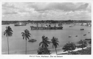 Tanzania Dar es Salaam Harbour Aerial View, ships, boats real photo
