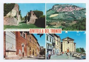 Italy Abruzzo Civitella Del Tronto Multiview Postcard Stamp