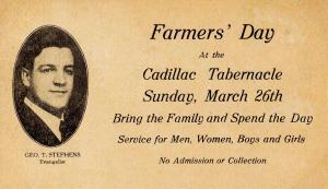 MI - Cadillac. Farmers' Day at Cadillac Tabernacle (Masonic)