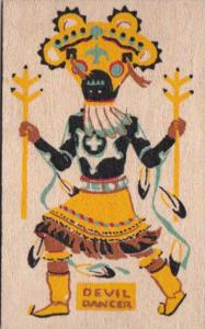 An Apache Gan or Indian Devil Dancer Yucca Veneer Card