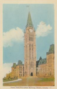 OTTAWA , Ontario, Canada,1930s ; Peace Tower , Parliament Buildings