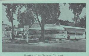 Lindholm's Diner and Texaco Gas Station Greetings From Rutland Vermont