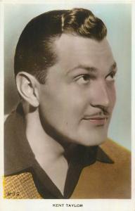 Kent Taylor actor tinted postcard