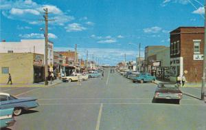 Canada Main Street Scene Taber Alberta