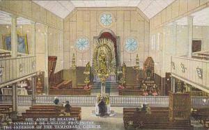 The Interior Of The Temporary Church, Ste. Anne De Beaupre, Quebec, Canada, 1...