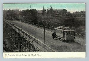 St Cloud MN-Minnesota, St Germain Street Bridge, Vintage Postcard