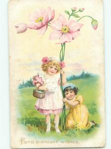 Divided-Back CHILDREN SCENE Great Postcard AA6100