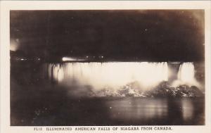 RP; Illuminated American Niagara Falls from ONatrio, Canada,  10-20s