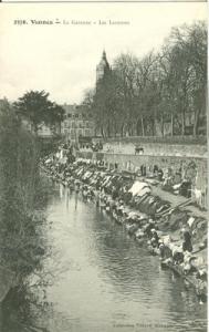 France, Vannes, La Garenne, Les Laveuses, early 1900s unu...
