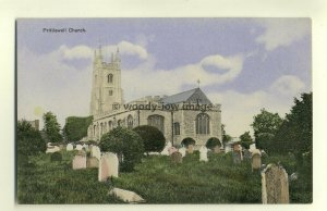 cu1741 - Prittlewell Church , Essex - postcard