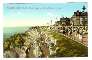 Looking West, Zig Zag Path & Bandstand Leas, Folkestone (Kent), England, UK, ...