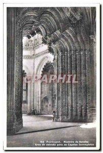 Modern Postcard Portugal Mosteiro da Batalha Arco de entrada para as Capelas ...