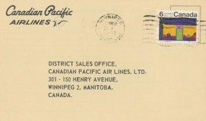 WINNIPEG, Manitoba, Canada, 1971 ; Canadian Pacific Airlines