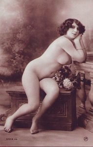 HR-02 - Risque French Postcard Handmade from a Photo of an Antique.