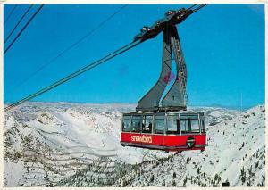 Tram Snowbird Utah Village Alta Canyon Postcard