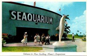 Florida Miami Seaquarium Entrance To Main Building