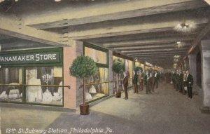PHILADELPHIA , Pa. , 1908 ; Wanamaker Store at Subway Station