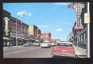 FERGUS FALLS MINNESOTA DOWNTOWN STREET SCENE 1960's CARS VINTAGE POSTCARD