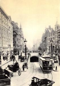 London Postcard, Southampton Row, Camden 1908 Reproduction Card T10