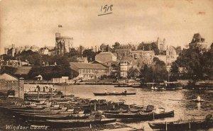 Windsor Castle Harbour Boats Port Chateau Panorama Postcard