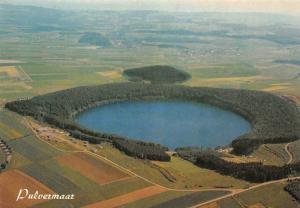 Gillenfeld in der Eifel, Das Pulvermaar Luftbild Panorama