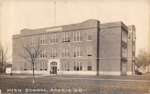 Ames Iowa~High School~Buildings Out Back~1918 Real Photo Postcard~RPPC