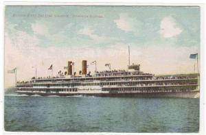 Steamer Hendrick Hudson Hudson River Line New York 1910c postcard
