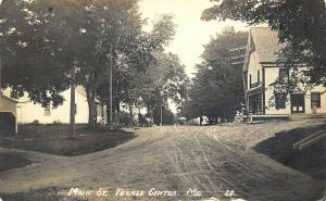 Turner Center ME Dirt Main Street General Store Real Photo Postcard