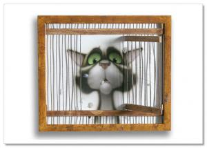 Image result for Cat in cage comic