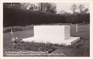 New York Hyde Park Franklin D Roosevelt Grave and Monument Real Photo