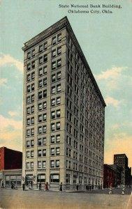 State National Bank Building, Oklahoma City, Oklahoma, Early Postcard, Used