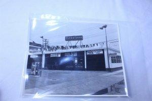 Vintage 1950's Black & White Original Photo Firestone Station on Fotorite - A