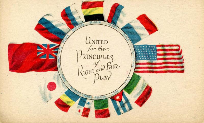 Patriotic - United For The Principles WWI, Flags