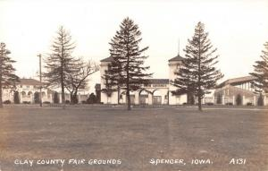 Spencer Iowa~Clay County Fair Grounds~Main Gate~Grandstand~Arts Crafts~1925 RPPC