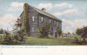 TUCK #2195; DAYTON, Ohio; Log Cabin, Oldest House in Dayton , Built 1796, 00-10s