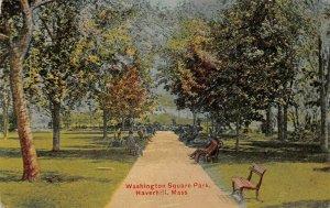 LPS76 Haverhill Massachusetts Washington Square Park Vintage Postcard