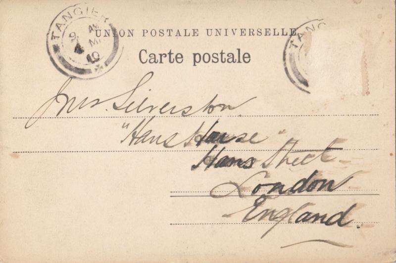 Morocco, Maroc, TANGIER, Tanger, Tangiers, The Town, 1910 used Postcard