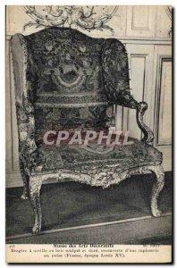 Old Postcard Musee des Arts Decoratifs Bergere has ear wooden Louis XV