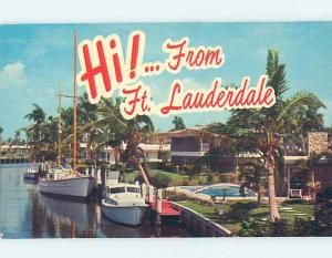 Pre-1980 BOATS DOCKED AT WATERFRONT HOMES Fort Lauderdale Florida FL F4519