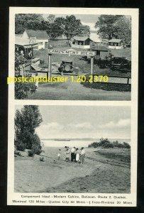 2370 - BATISCAN Quebec 1930s Campement Ideal. Cabins