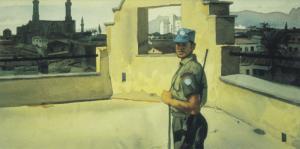 Guard Duty by WIlliam Scobie Houstoun, Canadian Armed Forces Civilian Artist ...