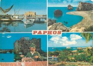 Souvenir Postcard Cyprus Paphos several aspects and views