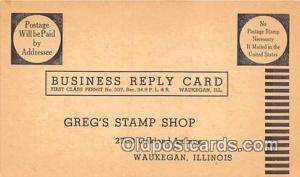 Waukegan, IL, USA Postcard Post Card Greg's Stamp Shop
