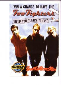Foo Fighters Contest Entry Postcard 2000 Sam the Record Man, Much Music