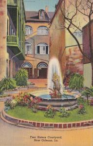 Louisiana New Orleans Two Sisters Courtyard Curteich