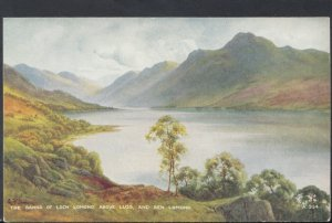 Scotland Postcard - The Banks of Loch Lomond Above Luss, and Ben Lomond  DC2231