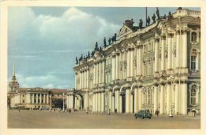 Russia Leningrad the State Hermitage museum postcard