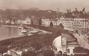 RP, Luzern Mit Schweizerhofquai, Luzern, Switzerland, 1920-1940s