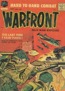 Warfront 1950s Military Comic Book Paris Battle War Postcard