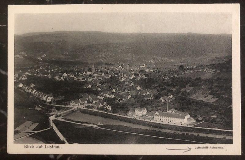 Mint RPPC Real Picture Postcard Zeppelin Airship recording Lustnau View